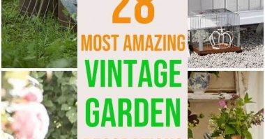 28 Most Amazing Vintage Garden Decorations