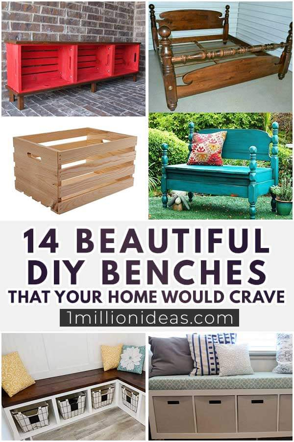 14 Beautiful DIY Benches That Your Home Would Crave