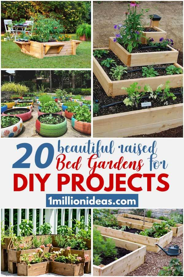 20 Beautiful Raised Bed Gardens For DIY Projects