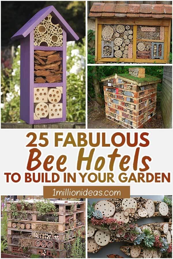 25 Fabulous Bee Hotels To Build In Your Garden