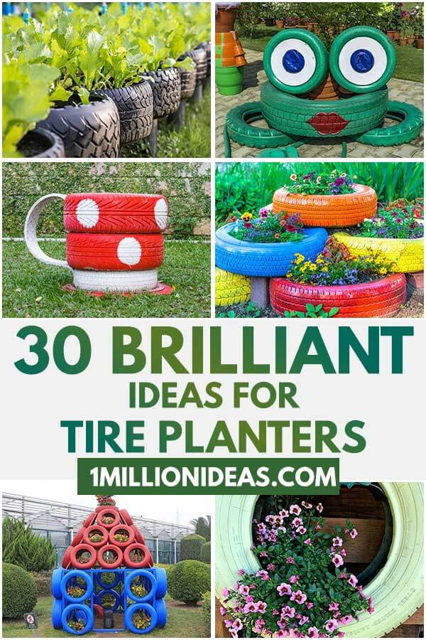 30 Brilliant Ideas For Tire Planters