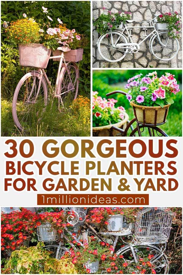 30 Gorgeous Bicycle Planters For Garden and Yard