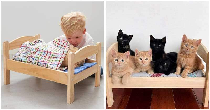 Ikea-Hack-That-Transforms-$15-Ikea-Doll-Beds-Into-Lovely-Little-Cat-Beds-ft
