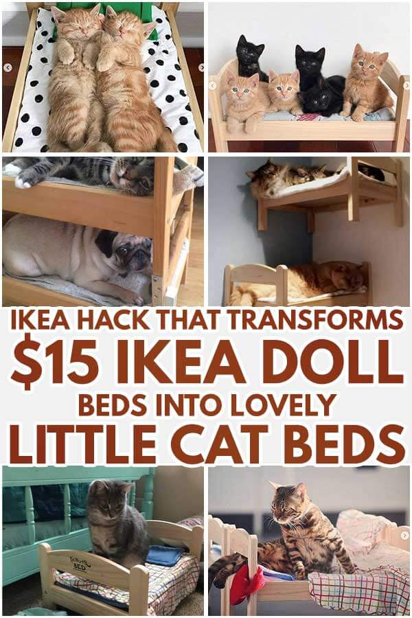 Ikea Hack That Transforms $15 Ikea Doll Beds Into Lovely Little Cat Beds