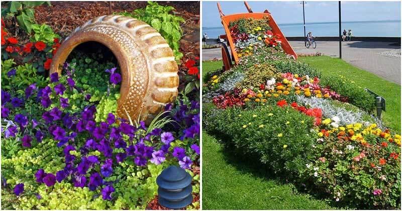 30 Fabulous Spilled Flower Pots