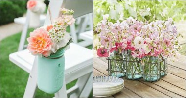 Summer Flower Arrangements From Mason Jars