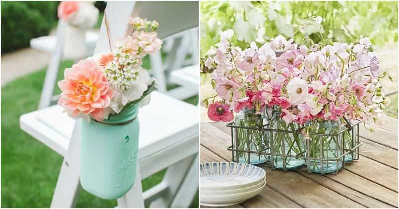Summer Flower Arrangements From Mason Jars