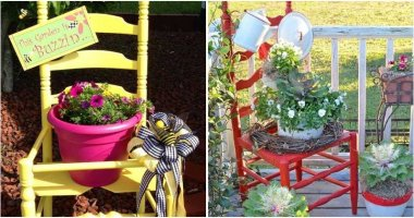 Upcycled Chair Planter Ideas