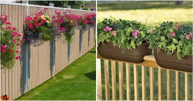20 Best Beautiful Fence Planters That You Will Love2