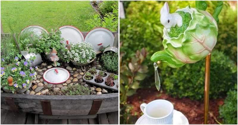DIY Garden Ideas From Using Kitchen Items and Utensils