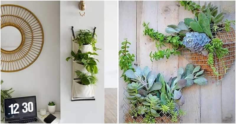 12 Creative DIY Vertical Pocket Planters