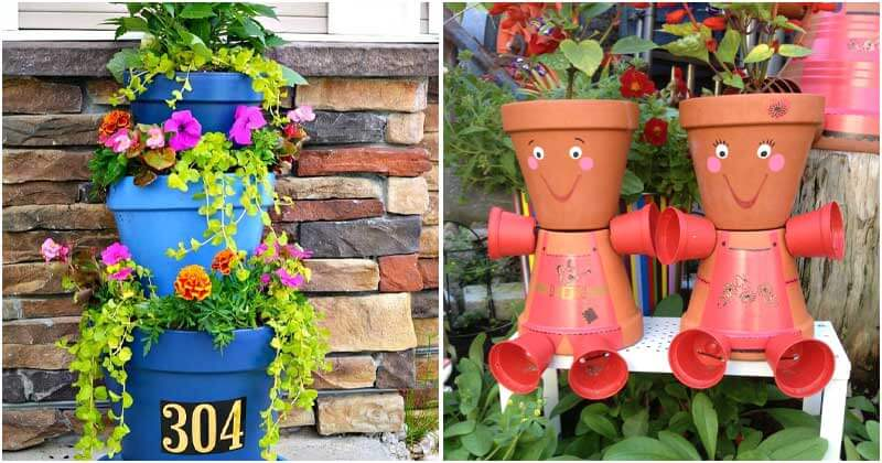 18-Amazing-Garden-Ideas-For-Stacked-Pots-ft