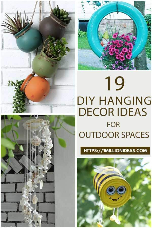 19 Stunning DIY Hanging Decor Ideas For Your Outdoor Spaces