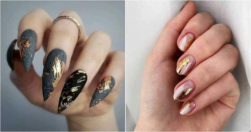 20-Mesmerizing-Gold-Foil-Nail-Designs-ft