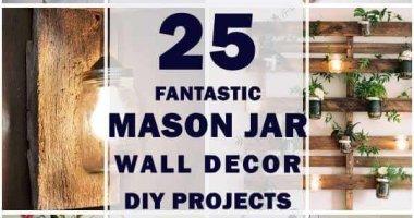 25 Fantastic Mason Jar Wall Decor Ideas