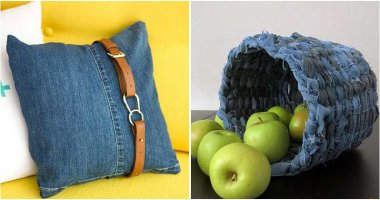 28 Clever Designs Made From Old Denim Jeans