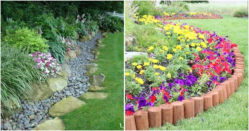 17 Beautiful and Cheap Garden Edging Ideas For Your Garden