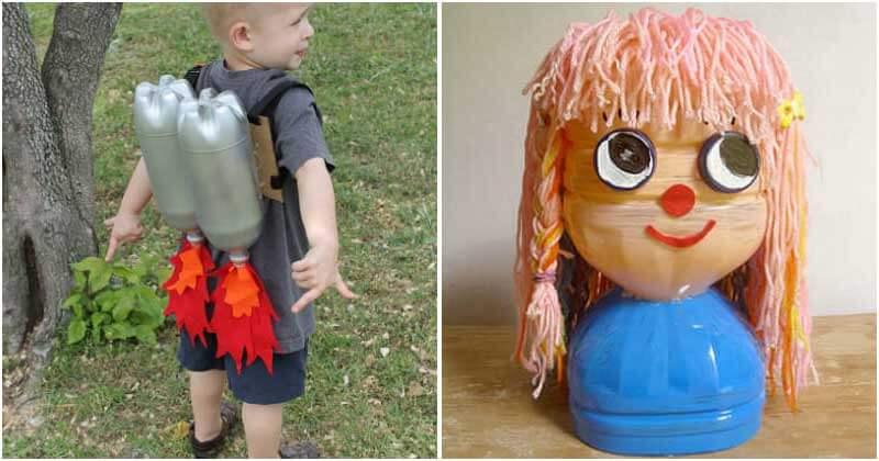 Creative Plastic Bottle Crafts For Kids