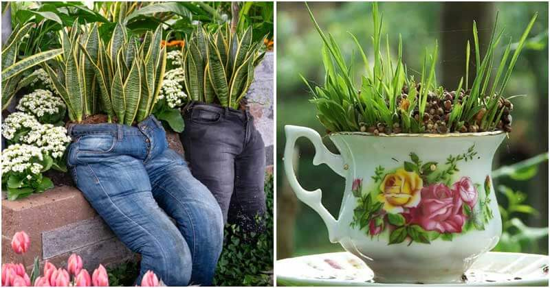 Interesting Ways To Upcycle Old Junk In Your Garden