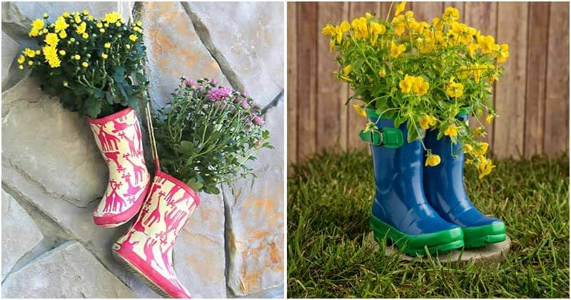 7 Gorgeous Boot Planters For Your Garden