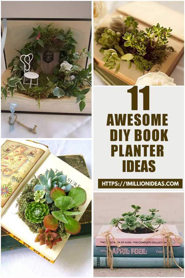 Awesome DIY Book Planter Ideas That You Will love