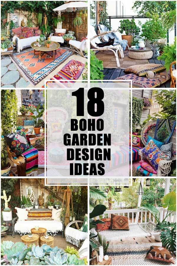 18 Best Beautiful Garden Design Ideas With Boho Style