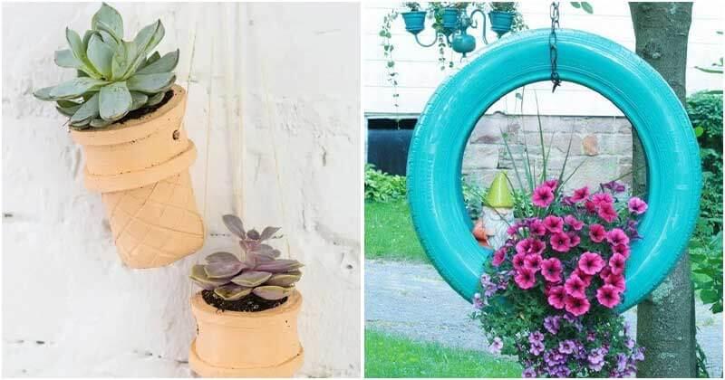 15 Unique DIY Hanging Planter Ideas
