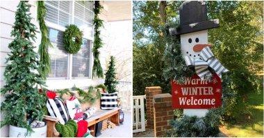 30 Christmas Porch Decorating Ideas