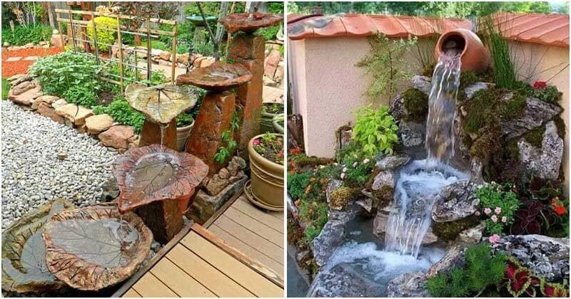 18 Unique Water Fountain Ideas For Your Backyard