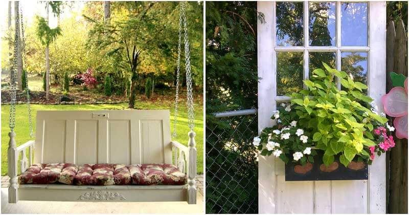 18 Creative Old Door Projects For Garden Decorations