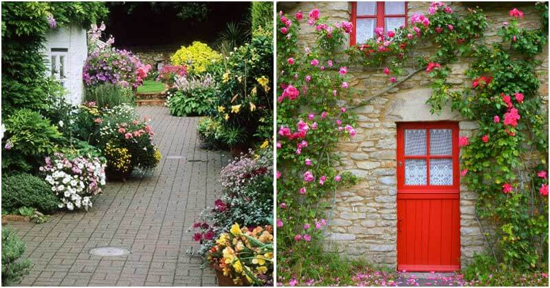20 Charming Entryways Covered In Flowers For Your Home