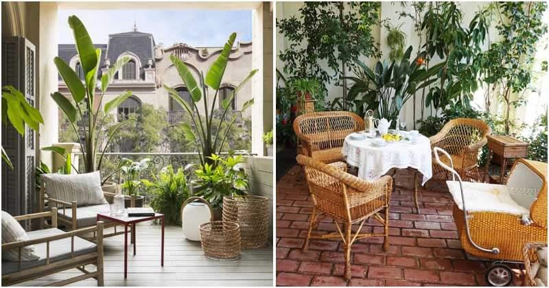 24 Tropical Garden Oasis Ideas For Your Balcony