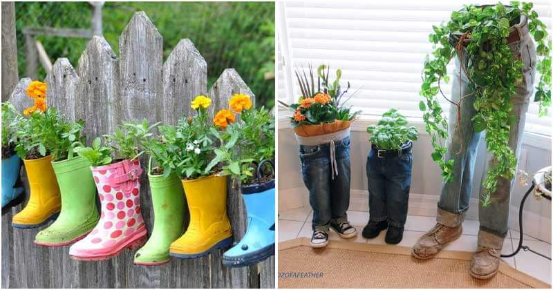 17 Interesting Recycled Garden Planters