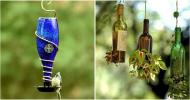 16 Clever Ideas Using Wine Bottles For Your Garden