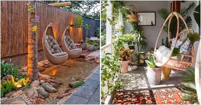 16 Stunning Garden Swing Ideas