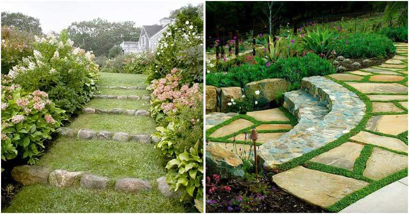 21 Amazing Stone Garden Path Ideas