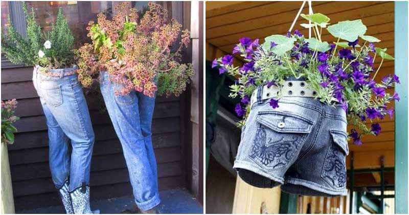 Old Jeans And Impressive Gifts For Your Garden