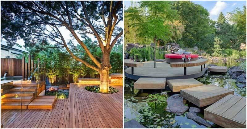 19 Fabulous Floating Deck Garden Ideas