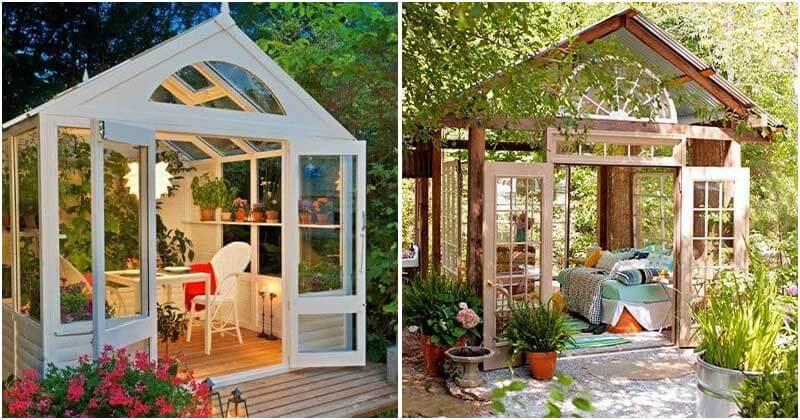 20 Gorgeous Backyard Glass House Ideas