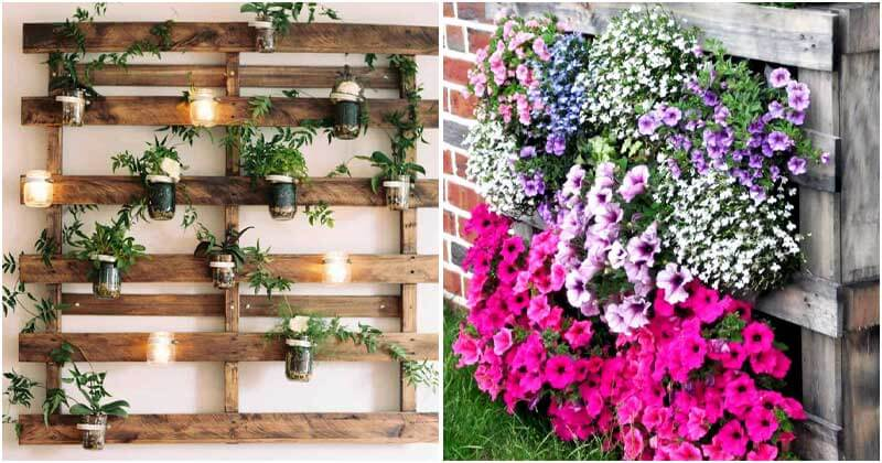 21 Stunning DIY Recycled Wood Pallet Garden Ideas