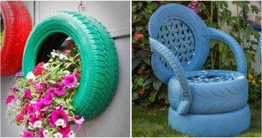 27 Creative Old Tires Garden Ideas
