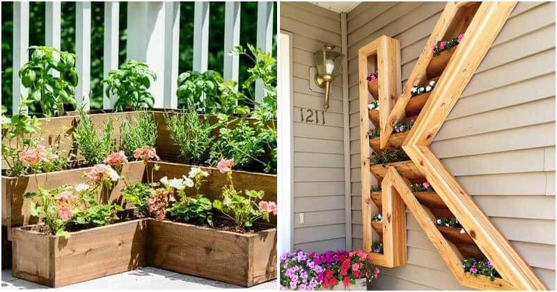 22 DIY Pallet and Wood Planter Box Ideas