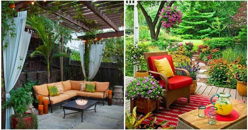 23 Attractive Garden Seating Ideas