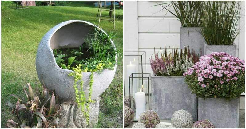 27 Creative DIY Concrete Garden Ideas