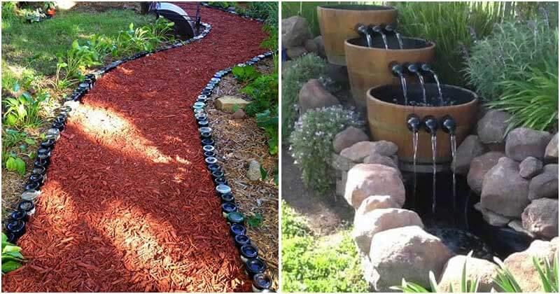 21 Creative DIY Wine Bottle Ideas For Your Garden