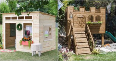 23 Brilliant Backyard Kids Playhouse Ideas