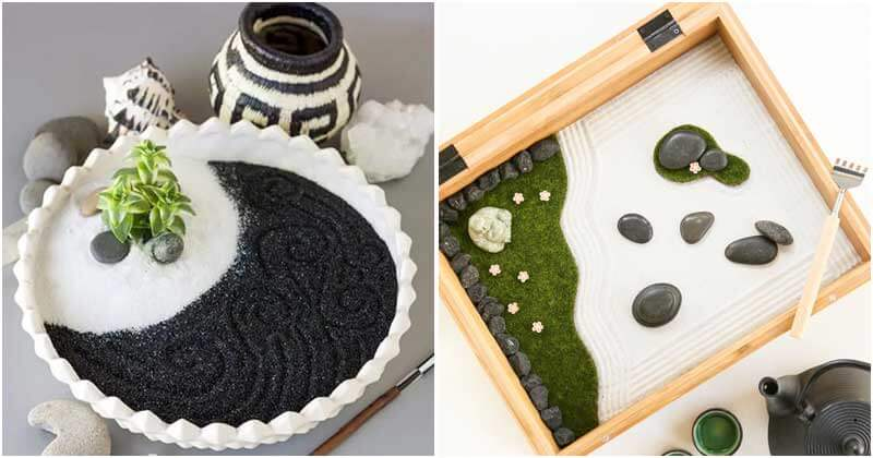 18 DIY Mini Zen Garden Ideas For Your Tabletop