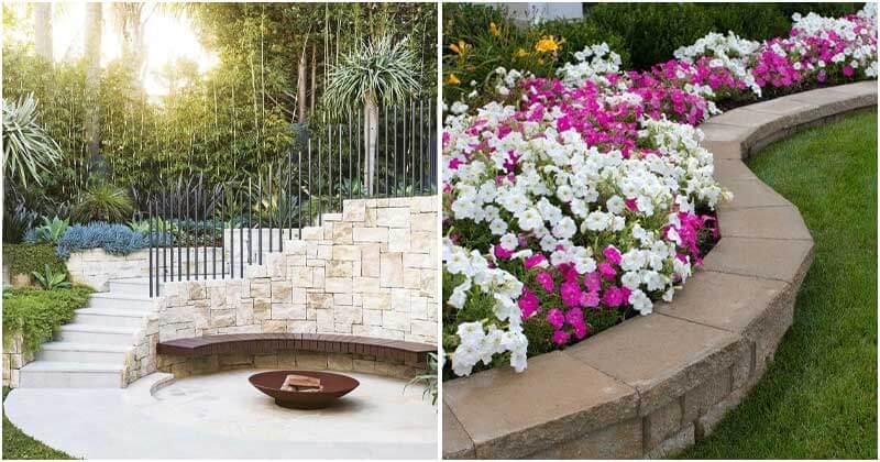 26 Backyard Retaining Wall and Terraced Garden Ideas