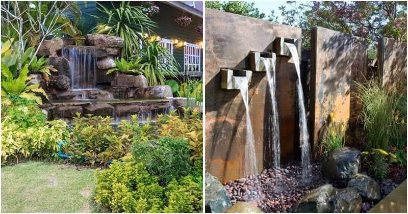 28 Spectacular Backyard Garden Waterfall Projects