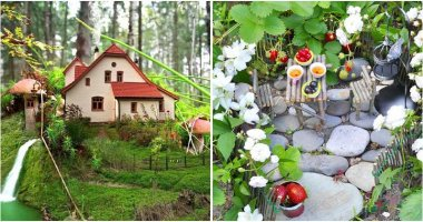 Fairy gardens are a fun way to mix toys with nature. It's also a great way for kids to your kids into gardening and love nature more. So, if you want to your kids join outdoor activities instead of watching youtube or searching internet all time, fairy gardens are smart choice. And here are 30 cute and fun outdoor fairy garden ideas that will blow your mind, and your kids too. They include fairy houses, structures, mushrooms, walkways, villages and more, explore them with us. Fairy gardens are miniature landscapes with tiny plants, trees, pathways, houses, and more. They look like there are living some tiny creatures, wrapped in a magical aura. There are no certain rules of how you can organize your mini fairy garden. So, to make them, you just need to have your imagination and creativity. These ideas today are great examples to try.
